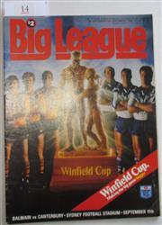 Sale 8404S - Lot 14 - 1988 Big League Grand Final Programme, Sept 11 (Vol.69, No.28), Balmain v Canterbury