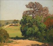 Sale 8633 - Lot 569 - Henry Hanke (1901 - 1989) - South Coast Pastoral 39.5 x 45cm