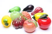 Sale 8706 - Lot 96 - Collection of Glass Decorative Fruit and Vege