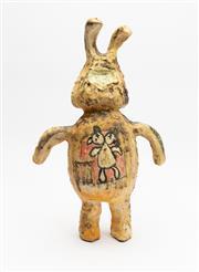 Sale 8770 - Lot 24 - Steve Davies (born 1964) small ceramic rabbit sculpture, H x 43cm