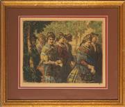 Sale 8807 - Lot 2027 - Nandor Vydai Brenner (1903 - 1990) - Walking to Sunday Mass 29 x 38cm