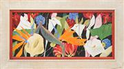 Sale 8824 - Lot 2083 - Denise Barry - Tropical Flowers (triptych) 29.5 x 67cm (overall)