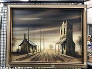 Sale 8797 - Lot 2027 - Artist Unknown - Rural Highway Scene, acrylic on board, 44.5 x 59.5cm