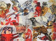 Sale 8892 - Lot 529 - David Bromley (1964 - ) - Birds 55 x 74.5 cm