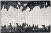 Sale 8978 - Lot 2053 - Ian Thomas Untitled (diptych) mixed media on plywood, 78 x 124cm (frame), signed verso -