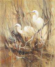 Sale 9055A - Lot 5005 - Peter Abraham (1926 - 2010) - The Chicks 59.5 x 49.5 cm (frame: 68 x 57 x 4 cm)
