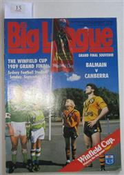 Sale 8404S - Lot 15 - 161989 Big League Grand Final Programme, Sept 24 (Vol.70, No.28), Balmain v Canberra
