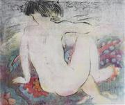 Sale 8492A - Lot 5029 - Margaret Lees (1936 - ) - Nude on the Carpet, 1992 45.5 x 53.5cm