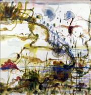 Sale 8723A - Lot 5025 - John Olsen (1928 -) - The Little River 83 x 80cm (sheet: 92 x 89cm)