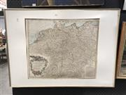Sale 8779 - Lot 2071 - French Map Print dated 1756