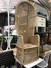 Sale 8822 - Lot 1225 - Cane High Back Chair