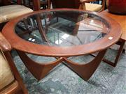Sale 8930 - Lot 1095 - Round G-Plan Atmos Coffee Table with Glass Top