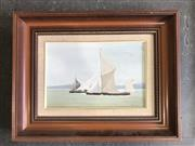 Sale 8964 - Lot 2058 - P Munsie Sunday Afternoon Yachting oil on canvas board, signed