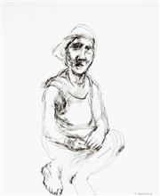 Sale 9063A - Lot 5032 - Margaret Woodward (1938 - ) - Seated Man 43 x 35 cm (frame: 75 x 66 x 3 cm)