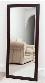 Sale 9070H - Lot 94 - A timber rectangular bevelled edge mirror, 108cm x 47.5cm