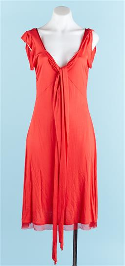 Sale 9091F - Lot 3 - A MAX & CO RED MID LENGTH DRESS; size 38