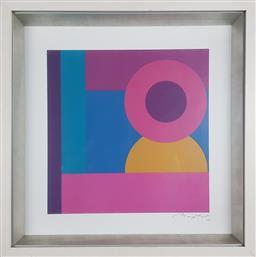 Sale 9155 - Lot 2031 - BAPTIST Geometric II decorative print, frame: 46 x 46 cm, facsimile signed lower right -