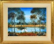 Sale 8358 - Lot 554 - Kevin Charles (Pro) Hart (1928 - 2006) - Swamp Birds 44.5 x 60cm