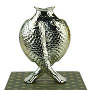 Sale 8387 - Lot 17 - Christofle Deux Poissons Vase