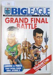 Sale 8404S - Lot 16 - 1990 Big League Grand Final Programme, Sept 23 (Vol.71, No.28), Canberra v Penrith