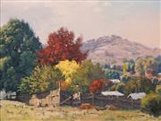 Sale 8575 - Lot 519 - Warwick Fuller (1948 - ) - A Back Fence at Adalong 44.5 x 59.5cm