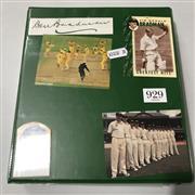 Sale 8863S - Lot 47 - Bradman Ephemera. A folder of ephemera including mint coins, with the autographs of Ian Craig, Bill Johnston, Sam Loxton (4), Norm O...