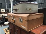 Sale 8868 - Lot 1575 - Vintage Suitcase & Smaller Example (2)