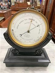 Sale 8951P - Lot 321 - Fahrenheits Berometer by W. Heath of Plymouth in Brass Case and On Stand (dial-12.5cm)