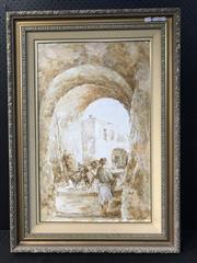 Sale 8953 - Lot 2058 - Italian School Town Alley Wayoil, 102 x 73cm (frame), signed