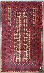 Sale 8979 - Lot 1015 - Hand Knotted Pure Wool Persian Baluchi (150 x 90cm)
