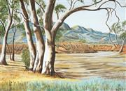 Sale 9055A - Lot 5089 - Reg Battams - Aroona Valley, 1974 44.5 x 60.5 cm (frame: 56 x 72 x 3 cm)