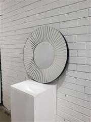Sale 9059 - Lot 1033 - Round Mirror Framed Mirror (d:80cm)