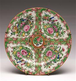Sale 9107 - Lot 80 - A Famille Verte Chinese Dish (Dia 25cm)