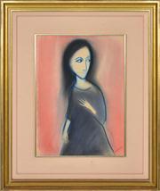 Sale 8344 - Lot 544 - Robert Dickerson (1924 - 2015) - Untitled (Woman) 38.5 x 28cm