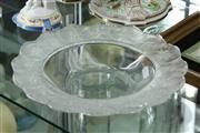 Sale 8360 - Lot 40 - Large Lalique Dish w Leaf Border (Small Chip)