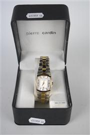 Sale 8381B - Lot 64 - Pierre Cardin Wrist Watch, having a date aperture on steel band, in box