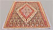 Sale 8445K - Lot 91 - Fine Persian Senneh Kilim , 152x131cm, Authentic Persian Senneh Kilim handwoven in the city of Senneh, Iran. The finest of all tradi...