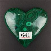 Sale 8567 - Lot 641 - Malachite Heart, Democratic Republic of the Congo