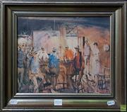 Sale 8600 - Lot 2031 - Hugh Sawrey Print - Bar Scene