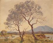 Sale 8652 - Lot 566 - James R Jackson (1882 - 1975) - Evening, NSW 37 x 44.5cm