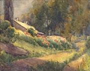 Sale 8692 - Lot 593 - Ethel Anna Stephens (1855 - 1944) - Morning near Clifton Gardens, Sydney, 1909 24 x 30.5cm