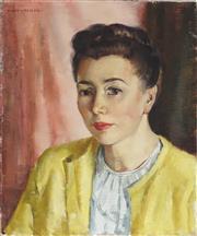 Sale 8819 - Lot 2022 - Nan Greacen - Portrait of a Woman 46 x 38.5cm