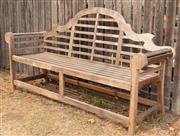 Sale 8871H - Lot 15 - A teak Lutyens bench, width 194cm