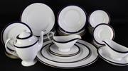 Sale 8972 - Lot 12 - Spode Consul Cobalt part dinner suite for 6 persons