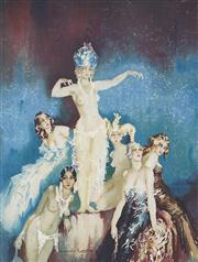 Sale 9055A - Lot 5004 - Norman Lindsay (1879 - 1969) - Benevolence, 1969 37.5 x 29 (frame: 72 x 56 x cm)