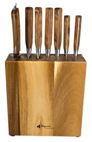 Sale 9080K - Lot 67 - Laguiole by Louis Thiers Séquoia 8-Piece Knife Block Set - rosewood handles
