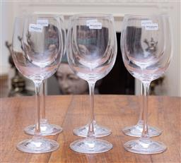 Sale 9190H - Lot 64 - A set of 6 Royal Doulton crystal wine glasses