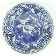 Sale 8314 - Lot 87 - Ming Late 17th Century Blue & White Bird Dish