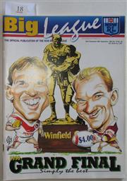 Sale 8404S - Lot 18 - 1993 Big League Grand Final Programme, Sept 26 (Vol.74, No.29), St George v Brisbane