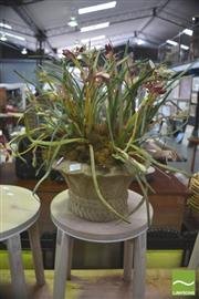 Sale 8406 - Lot 1033 - Pot Of Artificial Blooms